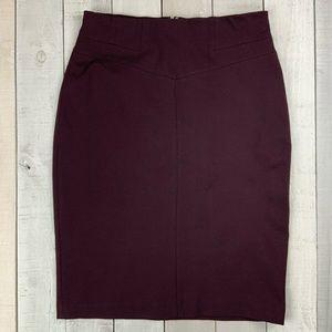 Ann Taylor plum pencil career skirt